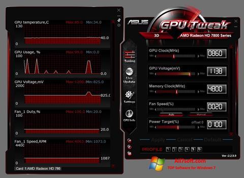Στιγμιότυπο οθόνης ASUS GPU Tweak Windows 7