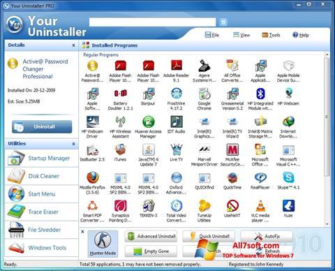 Στιγμιότυπο οθόνης Your Uninstaller Windows 7