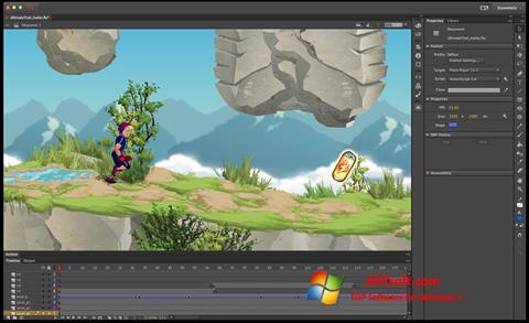 Στιγμιότυπο οθόνης Adobe Flash Professional Windows 7