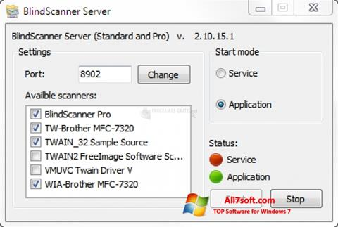Στιγμιότυπο οθόνης BlindScanner Windows 7