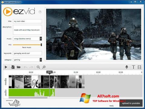 Στιγμιότυπο οθόνης Ezvid Windows 7