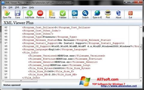 Στιγμιότυπο οθόνης XML Viewer Windows 7