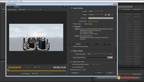 Στιγμιότυπο οθόνης Adobe Media Encoder Windows 7
