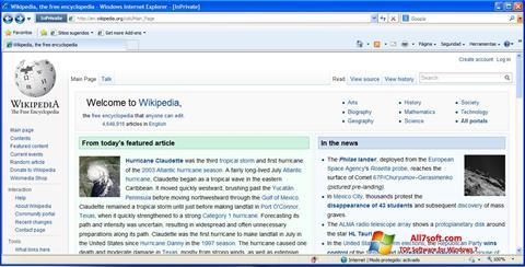 Στιγμιότυπο οθόνης Internet Explorer Windows 7