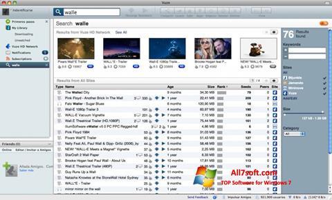 Στιγμιότυπο οθόνης Vuze Windows 7