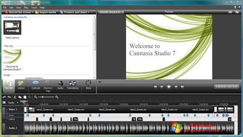 Στιγμιότυπο οθόνης Camtasia Studio Windows 7