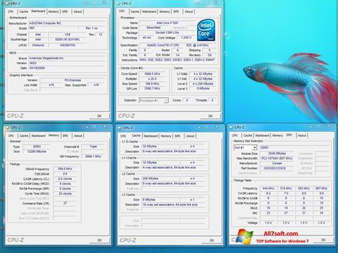 Στιγμιότυπο οθόνης CPU-Z Windows 7