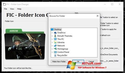Στιγμιότυπο οθόνης Icon Changer Windows 7