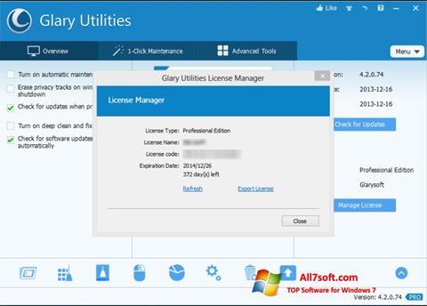 Στιγμιότυπο οθόνης Glary Utilities Windows 7
