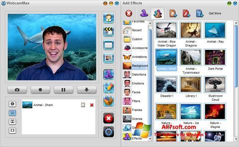 Στιγμιότυπο οθόνης WebcamMax Windows 7