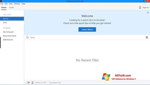 Στιγμιότυπο οθόνης Adobe Acrobat Pro Windows 7