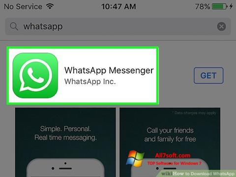 Στιγμιότυπο οθόνης WhatsApp Windows 7
