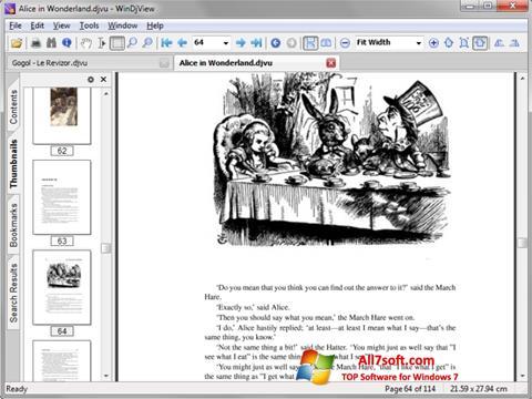 Στιγμιότυπο οθόνης DjView Windows 7