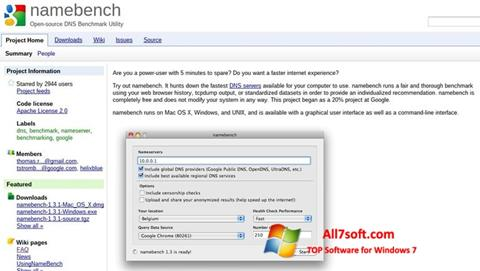 Στιγμιότυπο οθόνης NameBench Windows 7
