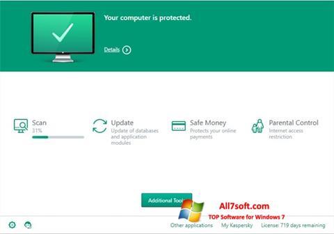 Στιγμιότυπο οθόνης Kaspersky Total Security Windows 7