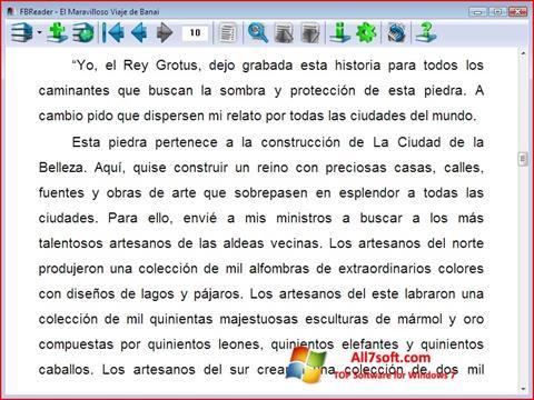 Στιγμιότυπο οθόνης FBReader Windows 7