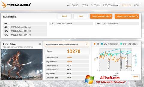 Στιγμιότυπο οθόνης 3DMark Windows 7