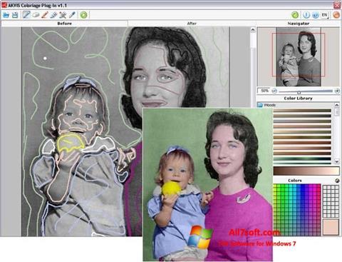 Στιγμιότυπο οθόνης AKVIS Coloriage Windows 7