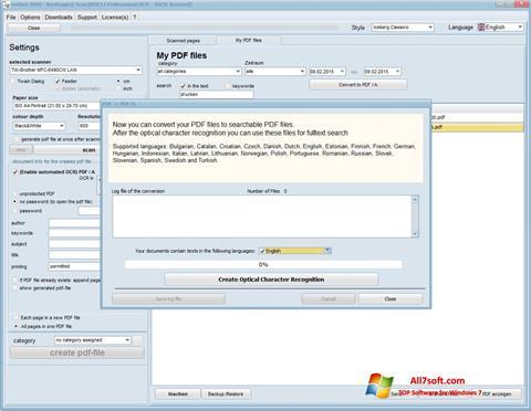 Στιγμιότυπο οθόνης Scan2PDF Windows 7