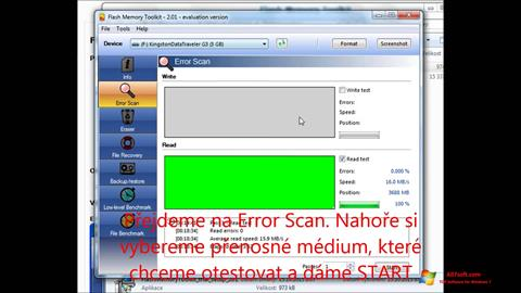 Στιγμιότυπο οθόνης Flash Memory Toolkit Windows 7