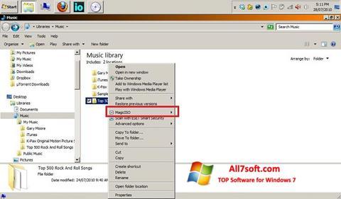 Στιγμιότυπο οθόνης MagicISO Windows 7
