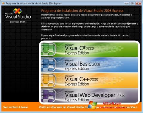 Στιγμιότυπο οθόνης Microsoft Visual Studio Windows 7