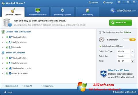 Στιγμιότυπο οθόνης Wise Disk Cleaner Windows 7