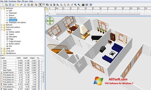 Στιγμιότυπο οθόνης FloorPlan 3D Windows 7