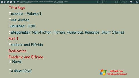 Στιγμιότυπο οθόνης ICE Book Reader Windows 7