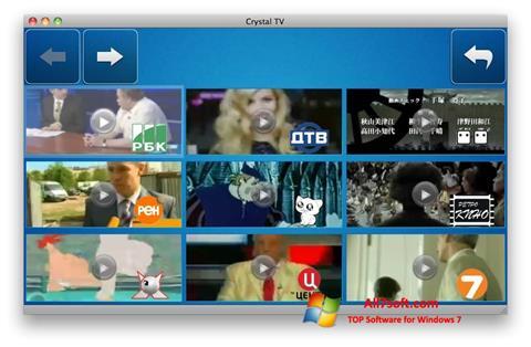 Στιγμιότυπο οθόνης Crystal TV Windows 7