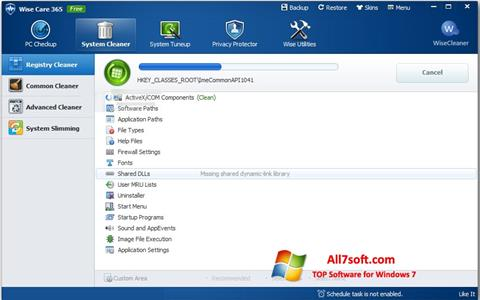 Στιγμιότυπο οθόνης Wise Care 365 Windows 7