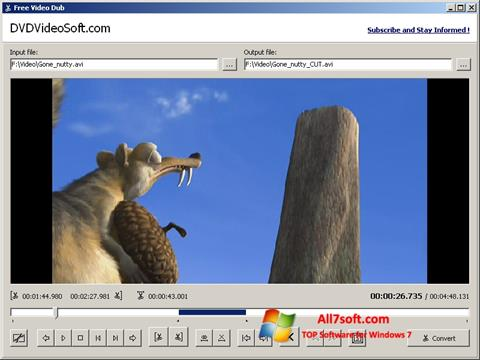 Στιγμιότυπο οθόνης Free Video Dub Windows 7