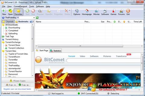 Στιγμιότυπο οθόνης BitComet Windows 7