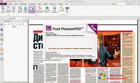 Στιγμιότυπο οθόνης Foxit Phantom Windows 7