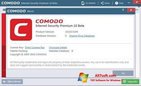 Στιγμιότυπο οθόνης Comodo Windows 7