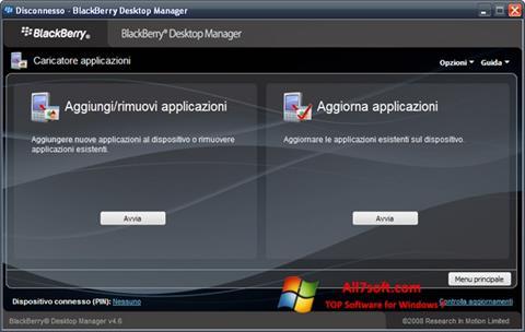 Στιγμιότυπο οθόνης BlackBerry Desktop Manager Windows 7