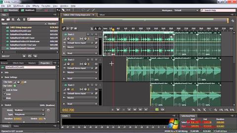 Στιγμιότυπο οθόνης Adobe Audition CC Windows 7