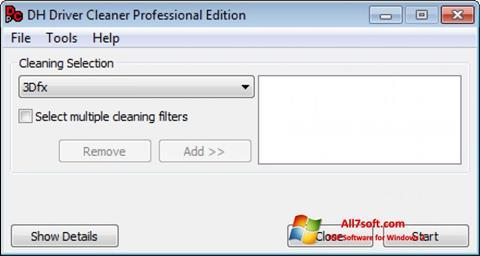 Στιγμιότυπο οθόνης Driver Cleaner Windows 7