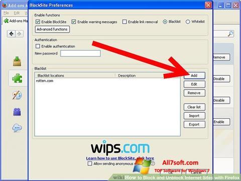 Στιγμιότυπο οθόνης uBlock Windows 7