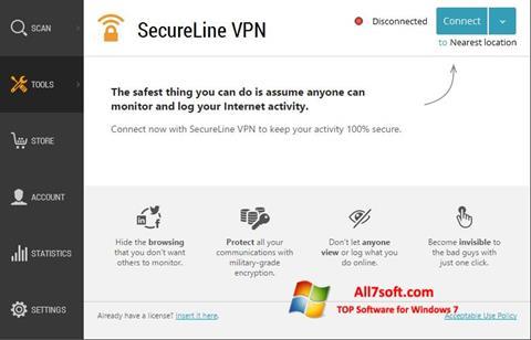 Στιγμιότυπο οθόνης Avast SecureLine VPN Windows 7