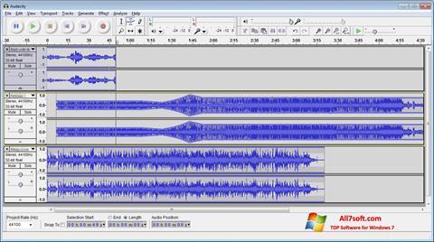 Στιγμιότυπο οθόνης Audacity Windows 7