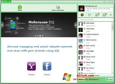 Στιγμιότυπο οθόνης ICQ Windows 7