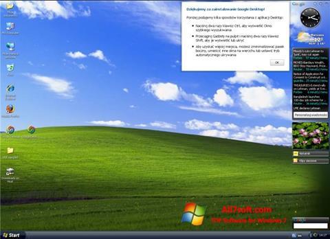 Στιγμιότυπο οθόνης Google Desktop Windows 7