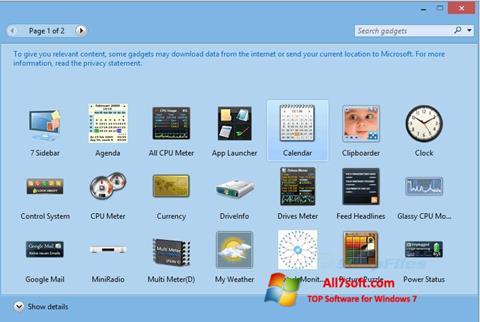 Στιγμιότυπο οθόνης 8GadgetPack Windows 7