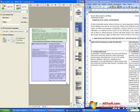 Στιγμιότυπο οθόνης ABBYY PDF Transformer Windows 7