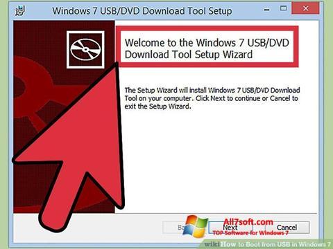 Στιγμιότυπο οθόνης Windows 7 USB DVD Download Tool Windows 7