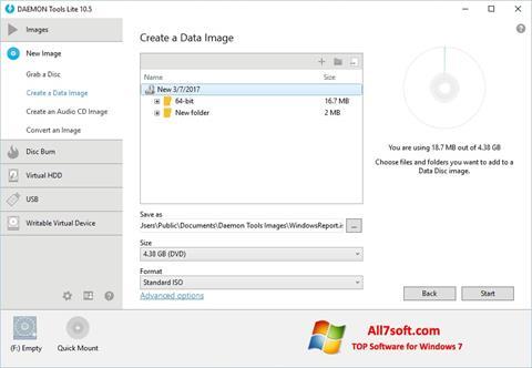 Στιγμιότυπο οθόνης DAEMON Tools Lite Windows 7