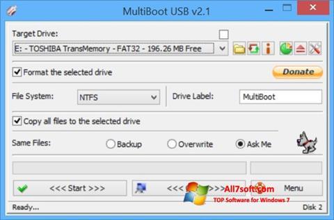Στιγμιότυπο οθόνης Multi Boot USB Windows 7