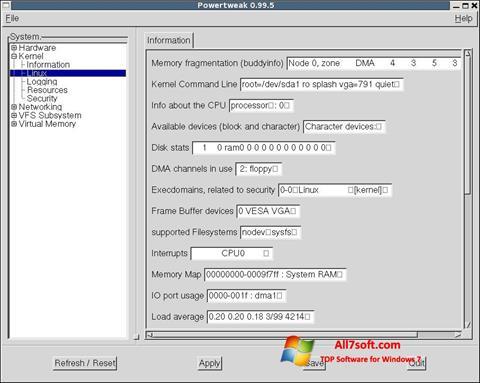 Στιγμιότυπο οθόνης PowerTweak Windows 7