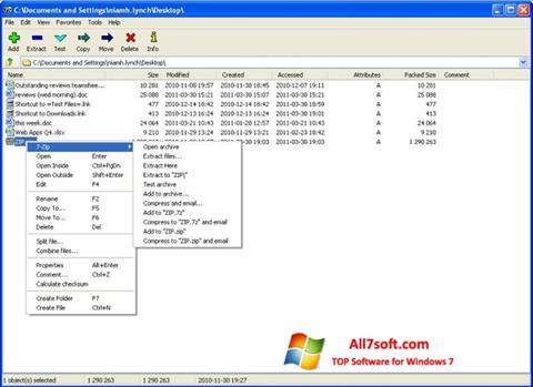 Στιγμιότυπο οθόνης 7-Zip Windows 7